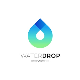 Logotipo de gota de água