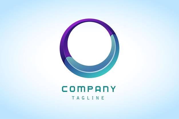 Logotipo de gradiente abstrato de círculo colorido luxuoso corporativo