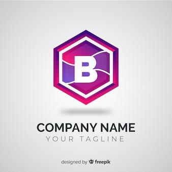 Logotipo de gradiente com forma abstrata
