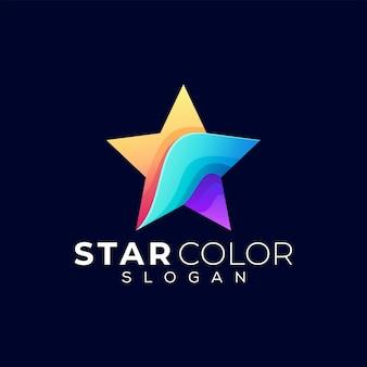 Logotipo de gradiente de cor de estrela