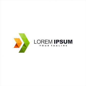 Logotipo de gradiente de seta impressionante