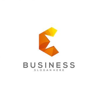 Logotipo de gradiente estrela impressionante letra c