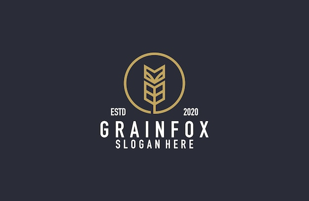Logotipo de grão e raposa