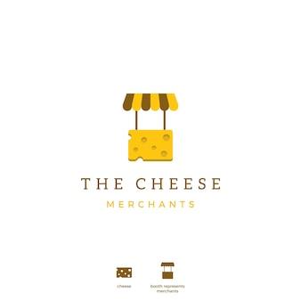 Logotipo de ícone de comerciante de queijo