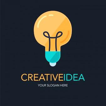 Logotipo de ideia de sucesso criativo