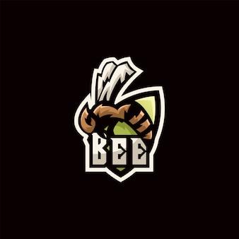 Logotipo de ilustração de abelha