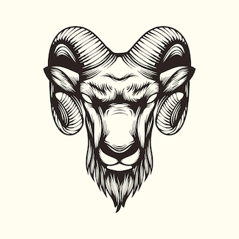 Logotipo de ilustração de cabra