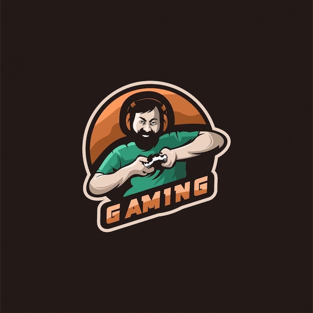 Logotipo de ilustração de jogos