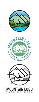 Logotipo de ilustração de montanha
