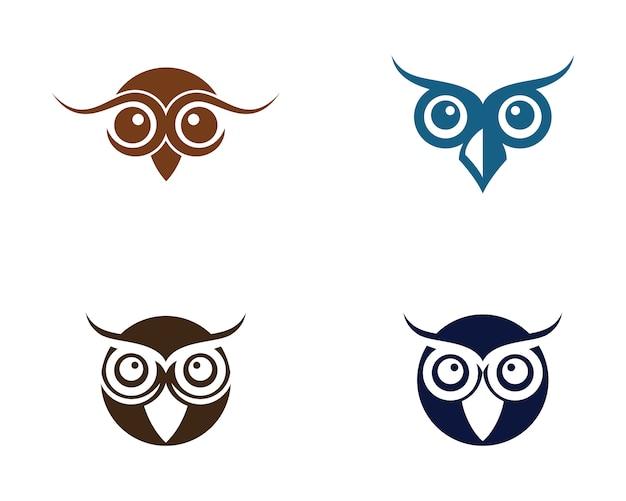 Logotipo de ilustração de pássaro de coruja