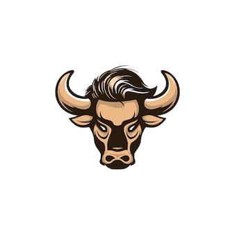 Logotipo de ilustração de touro