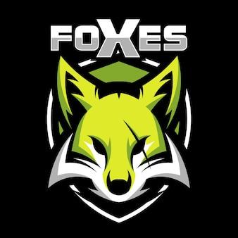Logotipo de ilustração de vetor de cabeça de mascote animal de raposa
