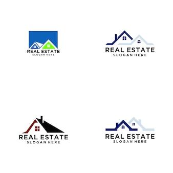 Logotipo de imóveis em casa