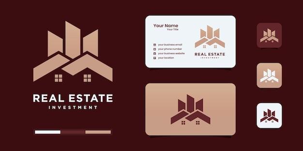 Logotipo de imóveis, logotipo de atendimento domiciliar, propriedade, logotipo de casa, casa e edifício, modelo de logotipo de vetor.