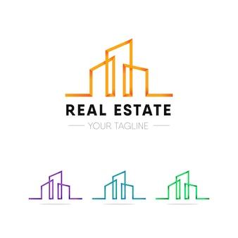 Logotipo de imóveis modernos