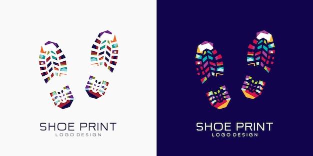 Logotipo de impressão de sapato