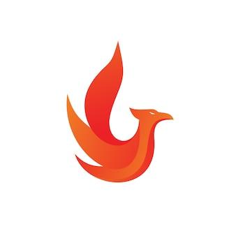 Logotipo de incêndio phoenix vector