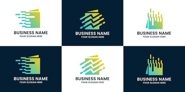 Logotipo de inspiração de livro digital para educação