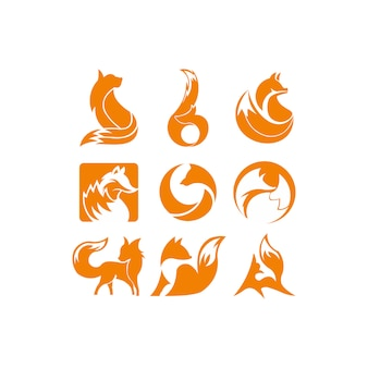 Logotipo de inspiração laranja raposa