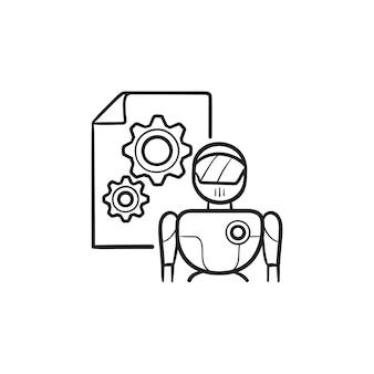 Logotipo de inteligência artificial. inteligência artificial e conceito de aprendizado de máquina. símbolo vetorial ai