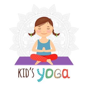 Logotipo de ioga de criança