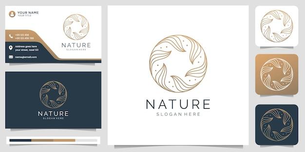 Logotipo de ioga e spa e modelo de cartão de visita