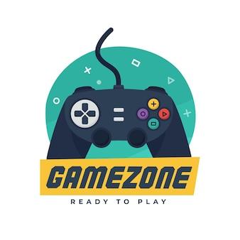 Logotipo de jogo colorido criativo