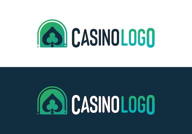 Logotipo de jogo de pôquer de cassino