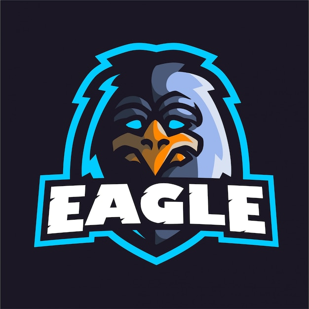 Logotipo de jogo mascote águia