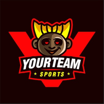 Logotipo de jogo mascote gamer