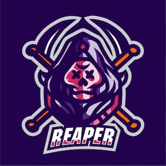 Logotipo de jogo mascote reaper