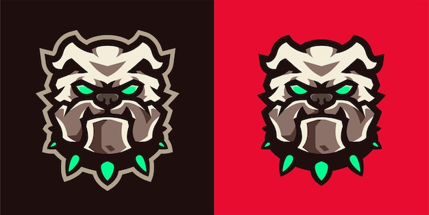 Logotipo de jogos agressive bulldog esport