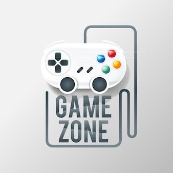 Logotipo de jogos com console