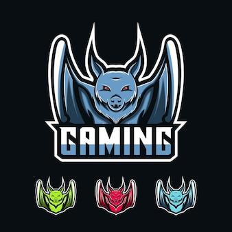 Logotipo de jogos de morcego