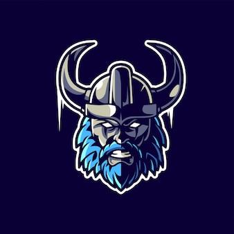 Logotipo de jogos esportivos viking