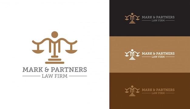 Logotipo de justiça legal de escritório de advocacia