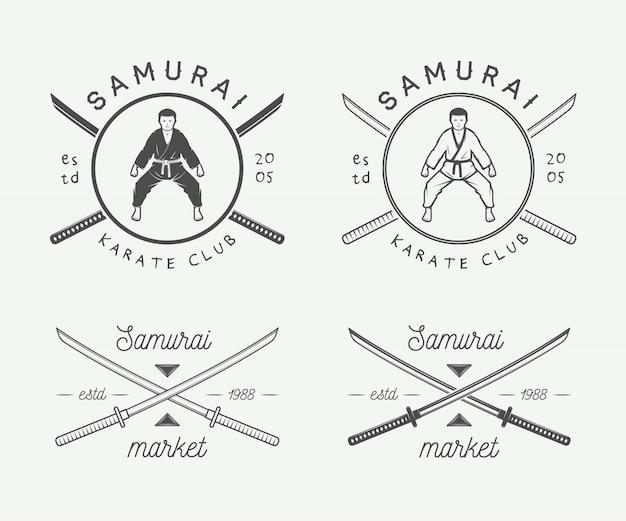 Logotipo de karatê ou artes marciais
