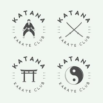 Logotipo de karate ou artes marciais