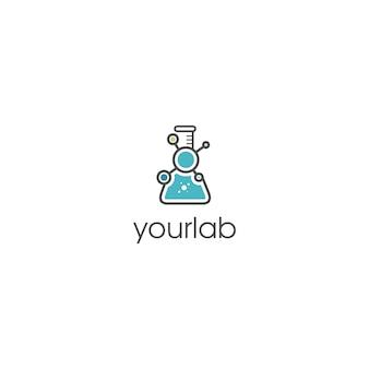 Logotipo de laboratório químico