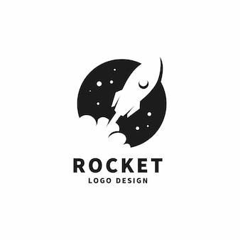 Logotipo de lançamento de foguete