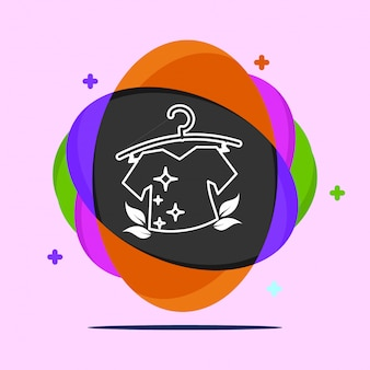 Logotipo de lavanderia vector