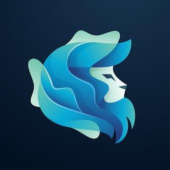 Logotipo de leão de cor abstrata