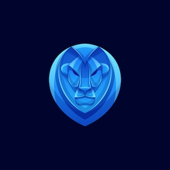 Logotipo de leão de cor moderna