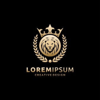Logotipo de leão de luxo