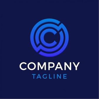 Logotipo de letra c de tecnologia