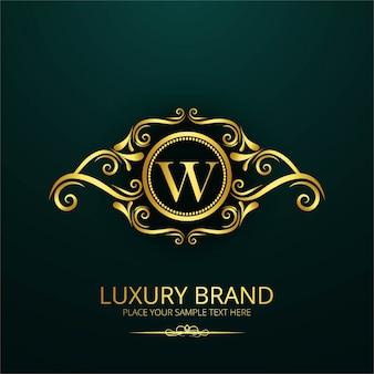 Logotipo de letra de luxo w