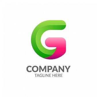 Logotipo de letra g colorido