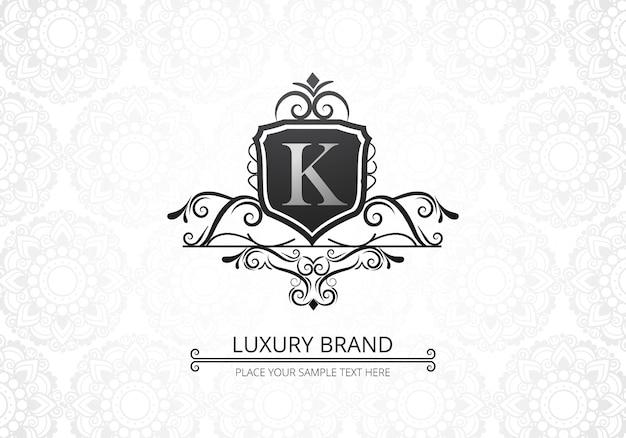 Logotipo de letra k de luxo premium criativo para empresa
