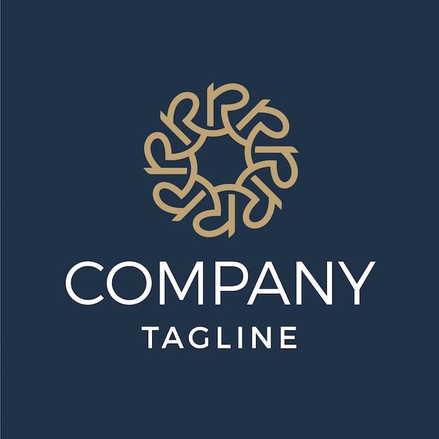 Logotipo de letra r de monograma de luxo