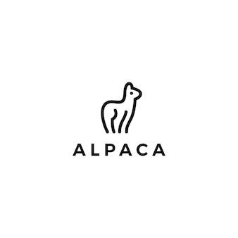 Logotipo de lhama de alpaca